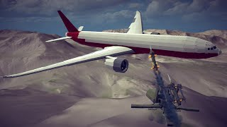 Large Airplanes Shot Down by Guided Missiles #13 Feat. New Kinetic Missiles | Besiege
