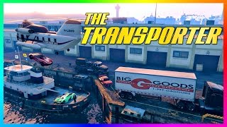 """GTA ONLINE """"TRANSPORTER"""" FREEMODE SPECIAL - IMPORTING/EXPORTING GTA 5 CARS & VEHICLE CHALLENGES!"""
