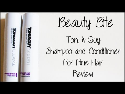 Toni & Guy Shampoo and Conditioner For Fine Hair Review || Lilac Ghosts