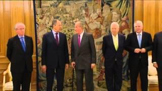 preview picture of video 'S.M. el Rey aborda con el ministro de Asuntos Exteriores de Rusia la crisis de Ucrania'