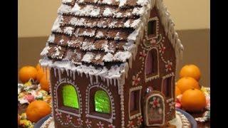 Смотреть онлайн Делаем Рождественский пряничный домик своими руками