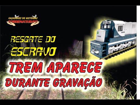 RESGATE DO ESCRAVO - PERIGO TREM APARECE DURANTE GRAVAÇÃO