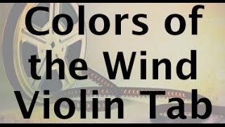 How to Play Colors of the Wind on the Violin