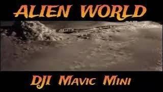 DJI MAVIC MINI DRONE - #45 - ALIEN WORLD ?? flying at night over snow