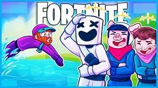 Fortnite is really hard to play when you're crying laughing...