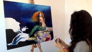 Oil Painting - Mermaid - Speed Painting