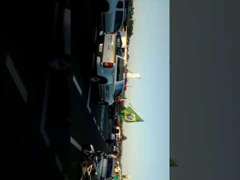 Protesto de caminhoneiros na RS 239 em Araricá