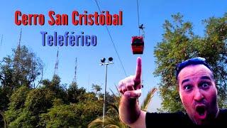 Cerro San Cristobal e teleférico em Santiago do Chile