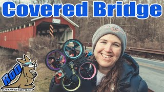 COVERED BRIDGE AS SEEN BY FPV DRONE! Cinewhooping a historic & beautiful Pennsylvania bridge