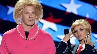 Victoria Justice & John Cena Spoof Donald Trump and Hillary Clinton at Teen Choice Awards 2016