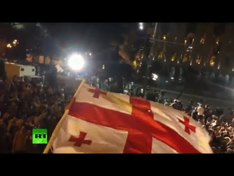 Protesters attempt to storm Georgia parliament in Tbilisi