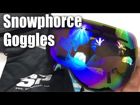 SnowPhorce Ski Snowboard Frameless Interchangeable Lens Goggles Review