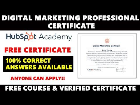 Digital Marketing Free Professional Certificate | Digital Marketing ...
