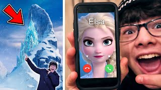 VISITING ELSA'S ICE PALACE (FROM FROZEN MOVIE) IN REAL LIFE!! *I MET ELSA*