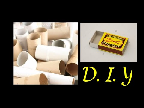 D. I. Y tissue roll /matches box into new things