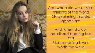 Run & Hide - Sabrina Carpenter (Lyrics)