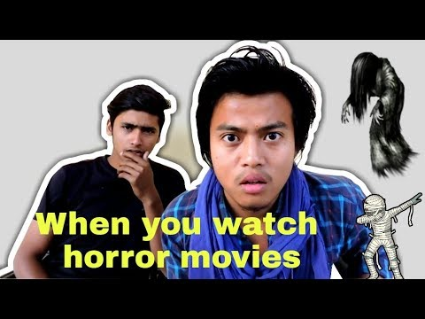 When You Watch A Horror Movie  - Funny Video