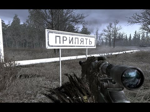 The Legendary Sniper mission from Call of duty 4 modern warfare. Chernobyl. Pripyat. COD4 MW1 PC