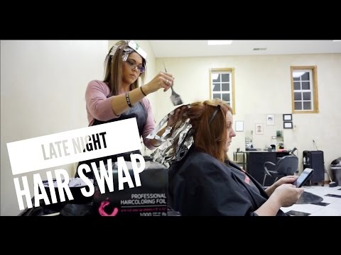 Late Night Hair Swap /Giveaway - ShannaMarieB VLOGS