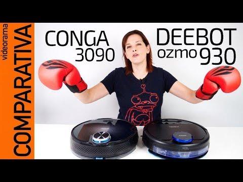 Comparativa de ROBOTS aspirador: Conga 3090 vs Deebot Ozmo 930