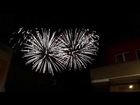 Slavnosti ROSA 2018 - noční ohňostroj