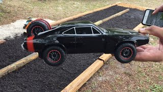 Dirt Drag Racing Track for Off Road Toys