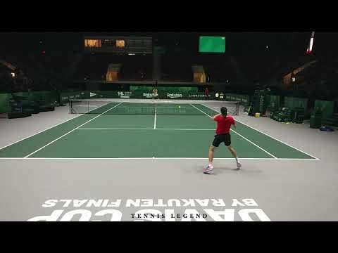 Denis Shapovalov - Félix Auger-Aliassime Great Points (Practice Davis Cup Finals 2019)