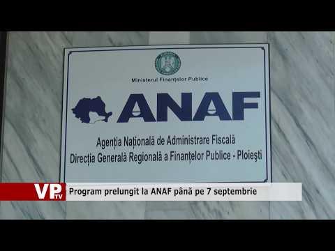 Program prelungit la ANAF până pe 7 septembrie