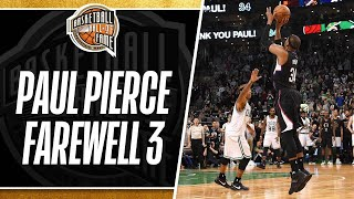 Paul Pierce Returns to The Game and Hits a Farewell Three Pointer in Boston   02.05.2017