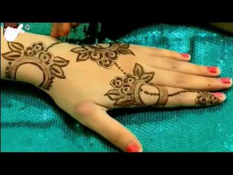 Simple Beautiful Mehndi Design for Hand