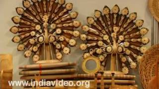 Bamboo and Cane artifacts in Dilli Haat