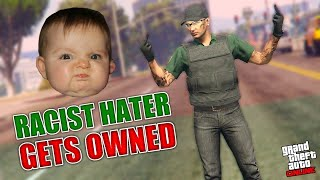 TBT! RACIST KID GETS OWNED!!! GTA V ONLINE