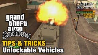 GTA San Andreas - Tips & Tricks - Unlockable Vehicles