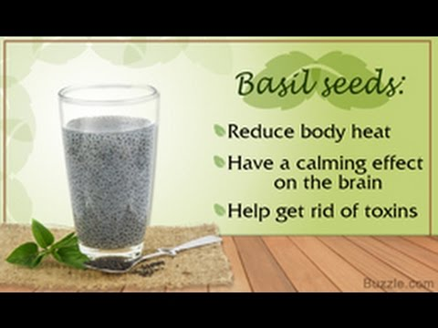 Video 15 Health Benefits of Basil Seeds
