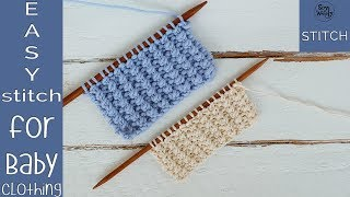 Easy Knitting stitch pattern for Baby clothing - So Woolly