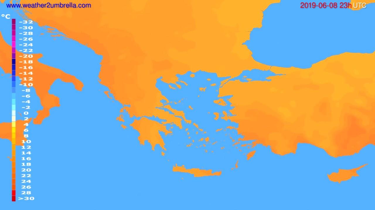 Temperature forecast Greece // modelrun: 12h UTC 2019-06-05