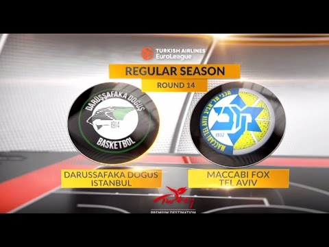 EuroLeague Highlights RS Round 14: Darussafaka Dogus Istanbul 86-84 Maccabi FOX Tel Aviv