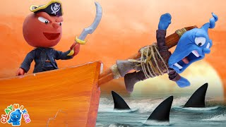 Tiny is Thrown to Pirate Sharks - Stop Motion Animation Short Film