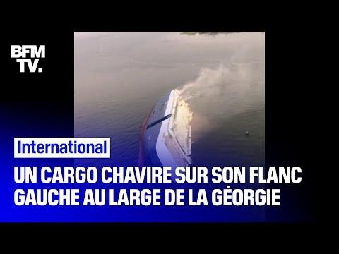 Les images impressionnantes du chavirage d'un cargo et du sauvetage de son équipage en Géorgie Les images impressionnantes du chavirage d'un cargo et du sauvetage de son équipage en Géorgie