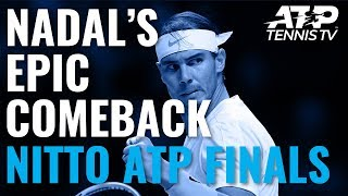 A classic Nadal comeback... Watch official ATP tennis streams from every tournament: http://tnn.is/YouTube  Subscribe to our channel: https://www.youtube.com/tennistv?sub_confirmation=1  Tennis TV is the OFFICIAL live streaming service of the ATP Tour.  Tennis TV features live streaming and video on demand of over 2,000 ATP tennis matches in full each year on PC, Mac, mobile & tablet apps on iOS & Android plus... Apple TV, Roku, Amazon Fire TV, Samsung Smart TV, Android TV, PlayStation 4, Xbox One and Chromecast. http://tnn.is/YouTube