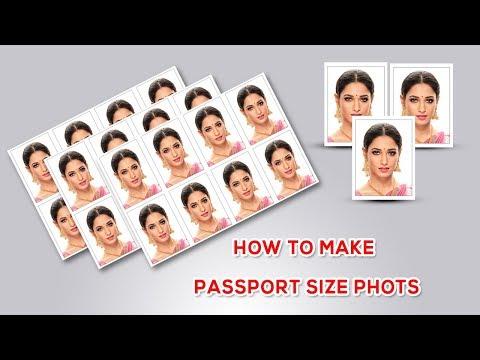 How to Make PassportSize Photo in adobe photoshop | SRINU PHOTO EDITING