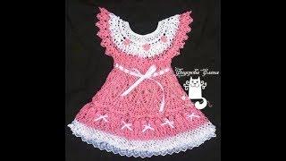 Детское Платье с Кокеткой Крючком 2017 / Baby Dress with Coquette Hook /Baby-Kleid mit einem Joch