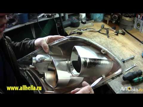 Ремонт фар Toyota Avensis своими руками Часть 3 Снятие стекла  и разборка фары