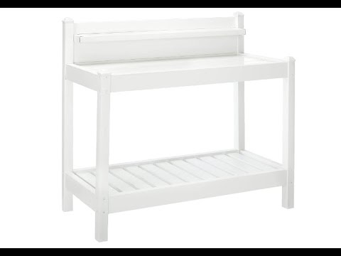 Dura-Trel 11203 Greenfield Potting Bench, White - Overview
