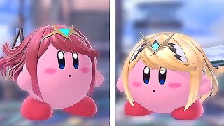 Kirby New Transformation in Super Smash Bros Ultimate (Pyra & Mythra Copy Ability)