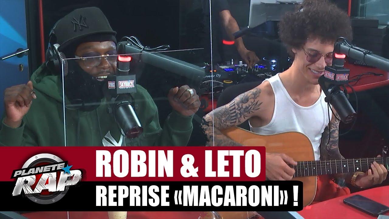 """Robin (The Voice) reprend """"MACARONI"""" à la GUITARE devant LETO ! #PlanèteRap"""