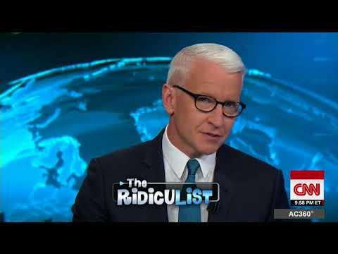 Cooper sarcastically plays Trump's 'best jokes'