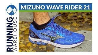 Mizuno Wave Rider 21 Men's Running Shoes video