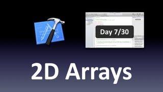 [Xcode] 2-Dimensional Arrays