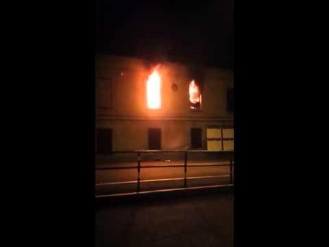 Le fiamme all'Ippodromo